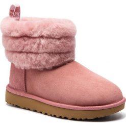 Buty UGG - W Fluff Mini 1098533 W/Pdw. Szare buty zimowe damskie marki Ugg, z materiału, z okrągłym noskiem. Za 949,00 zł.