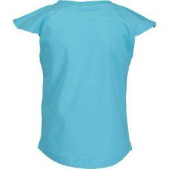 Blue Seven - Top dziecięcy 92-128 cm. Niebieskie bluzki dziewczęce Blue Seven, z nadrukiem, z bawełny, z okrągłym kołnierzem, z krótkim rękawem. W wyprzedaży za 19,90 zł.