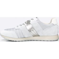 Geox - Buty. Szare buty sportowe damskie marki Geox, z materiału. W wyprzedaży za 269,90 zł.
