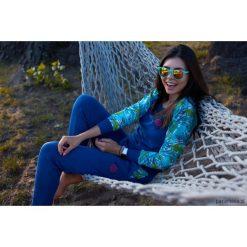 Bluza Simple Blue Parrot. Niebieskie bluzy rozpinane damskie Pakamera. Za 209,00 zł.