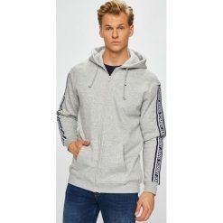 Tommy Jeans - Bluza. Szare bluzy męskie rozpinane Tommy Jeans, l, z bawełny, z kapturem. Za 449,90 zł.