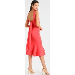 Sukienki hiszpanki: True Violet PENCIL DRESS WITH FRILL HEM Sukienka koktajlowa coral red