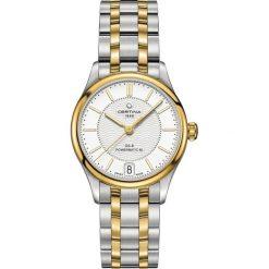 RABAT ZEGAREK CERTINA DS 8 Lady Powermatic 80 C033.207.22.031.00. Białe, analogowe zegarki męskie marki CERTINA, szklane. W wyprzedaży za 2807,20 zł.