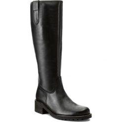 Oficerki GABOR - 76.097.90 Schwarz. Czarne buty zimowe damskie marki Gabor, ze skóry, przed kolano, na wysokim obcasie. W wyprzedaży za 479,00 zł.