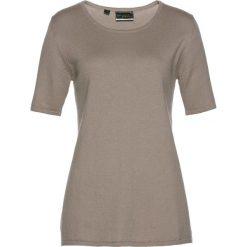 Swetry damskie: Sweter, krótki rękaw bonprix brunatny