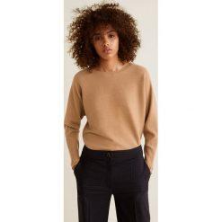 Mango - Sweter Vani. Brązowe swetry klasyczne damskie Mango, l, z dzianiny, z okrągłym kołnierzem. Za 119,90 zł.
