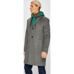 Calvin Klein - Płaszcz. Szare płaszcze na zamek męskie marki Calvin Klein, m, z kaszmiru, klasyczne. Za 1599,00 zł.