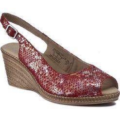 Rzymianki damskie: Sandały CAPRICE – 9-28350-28 Red Rept.Mult 525