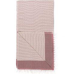 Chusta hammam w kolorze beżowo-szaroróżowym - 180 x 95 cm. Czarne chusty damskie marki Hamamtowels, z bawełny. W wyprzedaży za 43,95 zł.