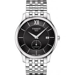 RABAT ZEGAREK TISSOT T-Classic T063.428.11.058.00. Czarne zegarki męskie TISSOT, ze stali. W wyprzedaży za 2622,40 zł.