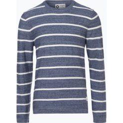 Jack & Jones - Sweter męski – Ocarson, niebieski. Niebieskie swetry klasyczne męskie Jack & Jones, m, w paski, z dzianiny, z klasycznym kołnierzykiem. Za 99,95 zł.