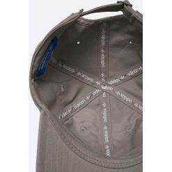 Adidas Originals - Czapka. Szare czapki z daszkiem damskie adidas Originals, z bawełny. W wyprzedaży za 69,90 zł.