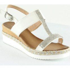 Rzymianki damskie: Sandały w kolorze białym
