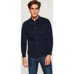 Sztruksowa koszula regular fit - Granatowy. Niebieskie koszule męskie marki Reserved, l. Za 119,99 zł.