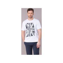 T-shirty z krótkim rękawem Ben Sherman  UNION WARP T-SHIRT. Białe t-shirty męskie marki Ben Sherman, m. Za 143,20 zł.