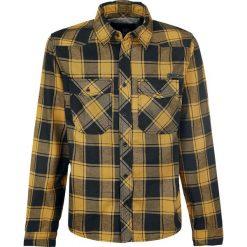 Brandit Checkshirt Koszula czarny/żółty. Białe koszule męskie na spinki marki Brandit, l, z aplikacjami, z bawełny, z długim rękawem. Za 121,90 zł.