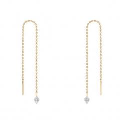 Zjawiskowe Kolczyki - , Diament 0,02ct. Białe kolczyki damskie W.KRUK, z diamentem. Za 629,00 zł.