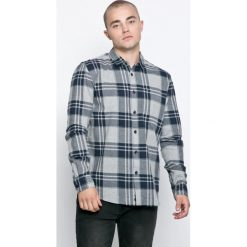 Bench - Koszula. Szare koszule męskie na spinki marki Bench, l, z bawełny, z klasycznym kołnierzykiem, z długim rękawem. W wyprzedaży za 69,90 zł.
