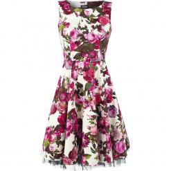 H&R London Audrey 50's Sukienka wielokolorowy. Brązowe sukienki balowe H&R London, s, z nadrukiem, z tiulu. Za 211,90 zł.