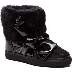Buty INUIKII - Sneaker 70202-25 Rabbit Knot Black. Czarne buty zimowe damskie Inuikii, z lakierowanej skóry. Za 1409,00 zł.