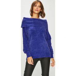 Vila - Sweter. Niebieskie swetry klasyczne damskie Vila, l, z dzianiny. W wyprzedaży za 119,90 zł.