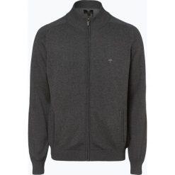 Fynch Hatton - Kardigan męski, szary. Szare swetry rozpinane męskie Fynch-Hatton, m, z haftami, z bawełny. Za 349,95 zł.