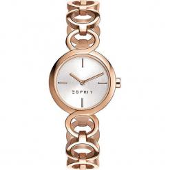 """Zegarek kwarcowy """"Arya"""" w kolorze srebrno-różowozłotym. Żółte, analogowe zegarki damskie Esprit Watches, ze stali. W wyprzedaży za 272,95 zł."""