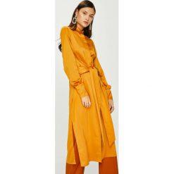 Answear - Sukienka Heritage. Pomarańczowe długie sukienki marki ANSWEAR, na co dzień, l, z elastanu, casualowe, z długim rękawem. W wyprzedaży za 159,90 zł.