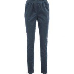 Legginsy sztruksowe ze stretchem bonprix nocny niebieski. Niebieskie legginsy marki bonprix, ze sztruksu. Za 74,99 zł.