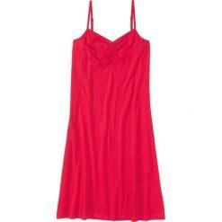 Koszula nocna na cienkich ramiączkach. bonprix czerwony. Czerwone koszule nocne i halki marki DOMYOS, z elastanu. Za 34,99 zł.