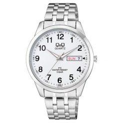 Biżuteria i zegarki męskie: Zegarek Q&Q Męski CD02-803 Klasyczny Data WR50