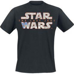 T-shirty męskie: Star Wars Episode 8 - Die letzten Jedi - Blue Print Logo T-Shirt czarny