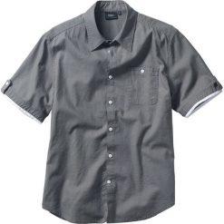 Koszula z lnem bonprix dymny szary. Brązowe koszule męskie marki QUECHUA, m, z elastanu, z krótkim rękawem. Za 79,99 zł.