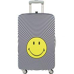 Pokrowiec na walizkę LOQI Smiley. Szare walizki marki LOQI, z elastanu. Za 123,00 zł.