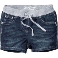 """Miękkie szorty z elastycznym paskiem bonprix ciemnoniebieski """"stone"""". Niebieskie spodenki dziewczęce bonprix, na lato. Za 74,99 zł."""