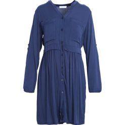 Granatowa Sukienka Winner's Day. Niebieskie sukienki marki Born2be, s, z koszulowym kołnierzykiem, koszulowe. Za 79,99 zł.