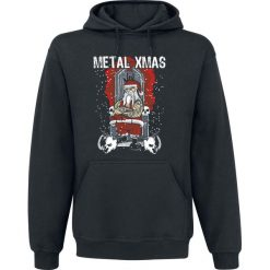 Metal XMas Bluza z kapturem czarny. Czarne bejsbolówki męskie Metal XMas, xl, z kapturem. Za 121,90 zł.