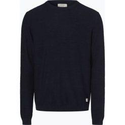 Jack & Jones - Sweter męski – Jornewfargo, niebieski. Czarne swetry klasyczne męskie marki Jack & Jones, l, z bawełny, z klasycznym kołnierzykiem, z długim rękawem. Za 119,95 zł.