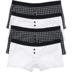 Bokserki damskie: Bokserki damskie (4 pary) bonprix czarno-biały z nadrukiem