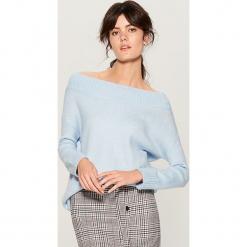 Sweter z domieszką wełny - Niebieski. Niebieskie swetry klasyczne damskie Mohito, l, z wełny. Za 129,99 zł.
