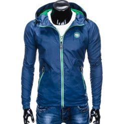 KURTKA MĘSKA PRZEJŚCIOWA C352 - GRANATOWA. Niebieskie kurtki męskie przejściowe Ombre Clothing, m, z poliesteru. Za 89,00 zł.