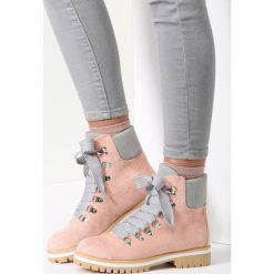 Buty zimowe damskie: Różowe Traperki Bye Bye Love