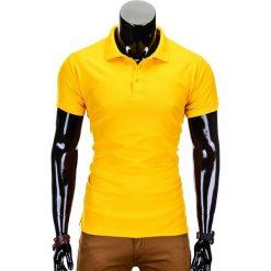 Koszulki polo: KOSZULKA MĘSKA POLO BEZ NADRUKU S715 – ŻÓŁTA