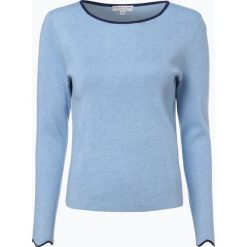 Marie Lund - Sweter damski, niebieski. Niebieskie swetry klasyczne damskie Marie Lund, xl, z dzianiny, z kontrastowym kołnierzykiem. Za 79,95 zł.
