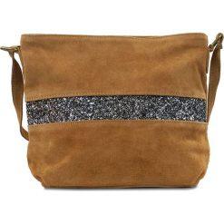 """Torebki klasyczne damskie: Skórzana torebka """"Nicole"""" w kolorze brązowym – 30 x 23 x 1 cm"""