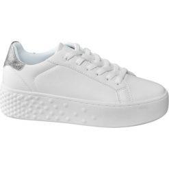 Sneakersy damskie Graceland białe. Białe sneakersy damskie Graceland, z materiału. Za 99,90 zł.
