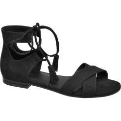 Rzymianki damskie: sandały damskie Graceland czarne