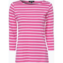 More & More - Damska koszulka z długim rękawem, różowy. Czerwone t-shirty damskie More & More, w paski, z bawełny, z klasycznym kołnierzykiem. Za 79,95 zł.