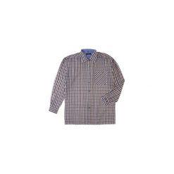 Koszula męska z guzikami, Z KOŁNIERZEM casual. Szare koszule męskie jeansowe marki TXM, m, w kratkę. Za 19,99 zł.