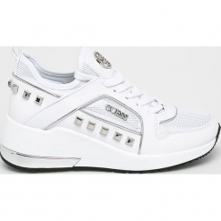 Guess Jeans - Buty. Szare buty sportowe damskie Guess Jeans, z aplikacjami, z gumy. Za 629,90 zł.